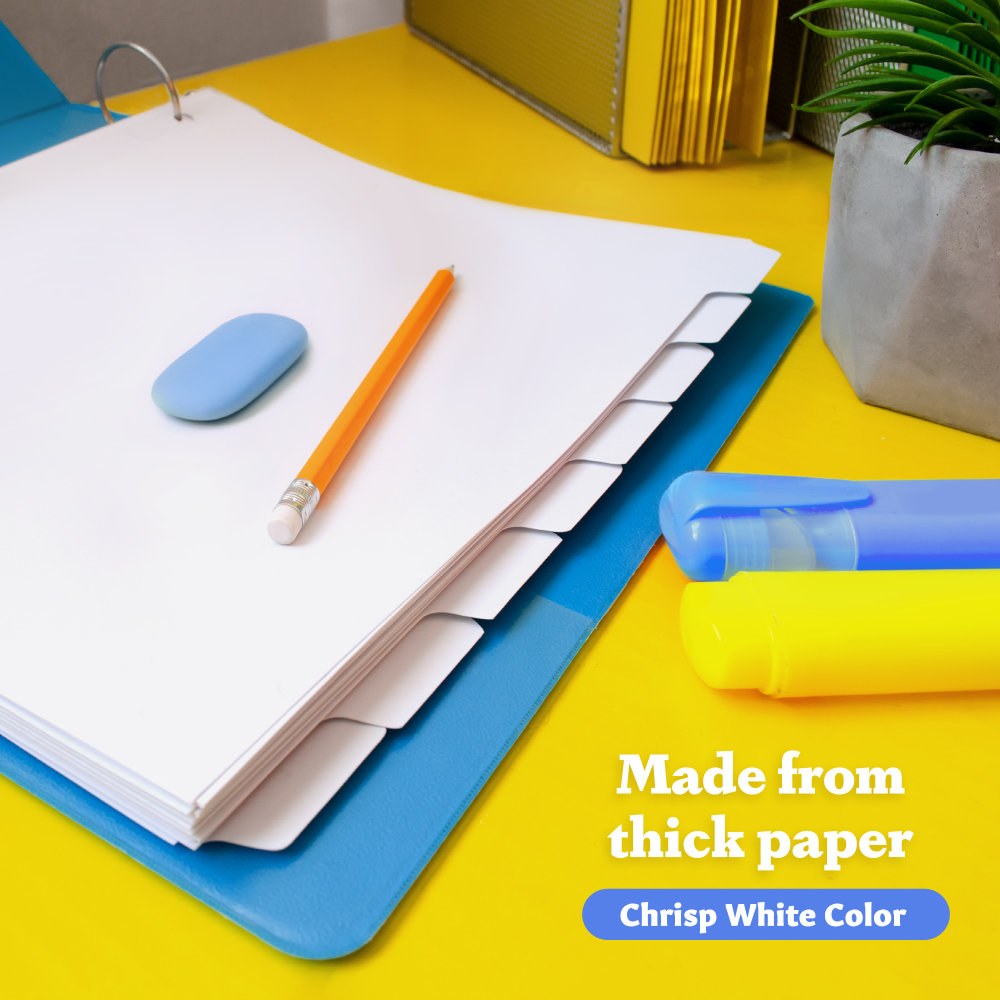 3 - White Binder Dividers 8 Tab