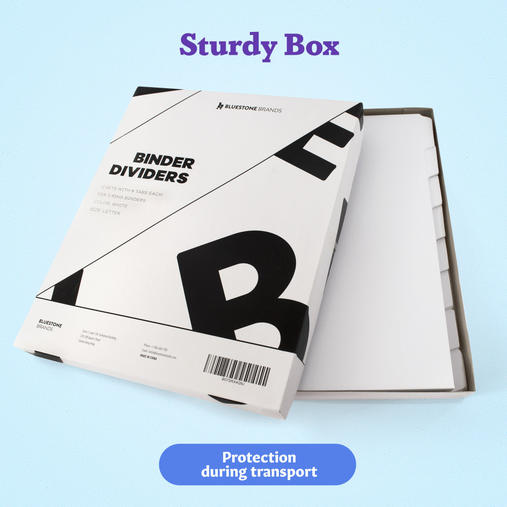 7 - White Binder Dividers 8 Tab